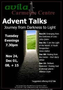 Advent Talks: Journey from Darkness to Light @ Avila Carmelite Centre | Dublin | Dublin | Ireland