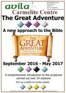 The Great Adventure: A New Approach to the Bible @ Avila Carmelite Centrre | Dublin | Dublin | Ireland