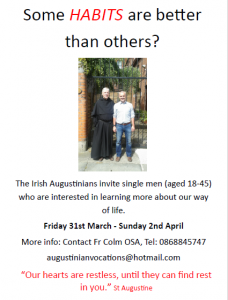 Augustinian Vocation Weekend @ St Augustine's Priory | Drogheda | County Louth | Ireland