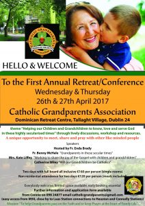 Catholic Godparents Association Annual Retreat/Conference - Tallaght, Dublin 24 - April 26 - April 27 @ Dominican Retreat Centre, Tallaght Village,  | County Dublin | Ireland