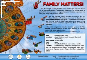 Family Matters @ Aula Maxima, St Patrick's College, Maynooth | County Kildare | Ireland