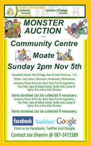 MONSTER AUCTION 2017 @ Moate Community Centre,  | Moate | County Westmeath | Ireland