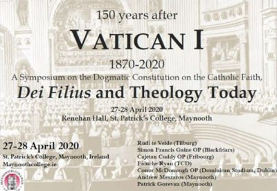 150 years after Vatican I 1870-2020 @ Renehan Hall, St. Patrick's College, Maynooth